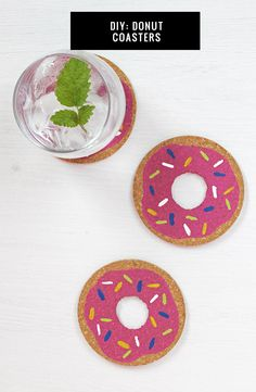 DIY Donut Coasters | HelloNatural.co