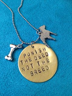 Punish The Deed Not The Breed by JEMJewelryDesign on Etsy