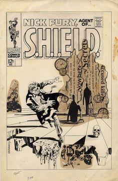 Original Nick Fury cover by Steranko.