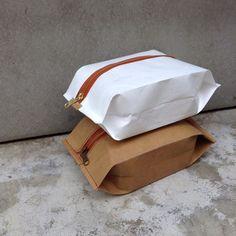 Snackpack : Kraft paper pouch bag/small bag/cosmetic bag/pencil case/purse/YKK zipper