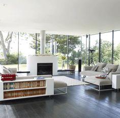 Cheminée insert double face : 50 idées de déco d\'intérieur   Foyers ...