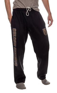 Vegas Golden Knights Fleece Sweatpants What Team, Vegas Golden Knights, Gifts For Your Boyfriend, Team Names, Physique, Nhl, Thighs, Sweatpants, Duffel Bag