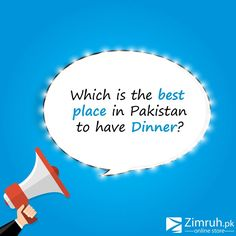 Which is the best place in Pakistan to have Dinner??  Visit Now==> www.zimruh.pk  #Zimruh_OnlineStore #Zimruh #Best_Place_In_Pakistan_To_Have_Dinner  Inbox To Order Us: Call to Order:+92 (21)34396400-401-402-403 Mobile/Whatsapp: 0335-4111056 / 0312-8693906