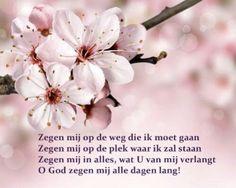 Gebed om zegen - Opwekking 710 | Zegen mij op de weg die ik moet gaan Zegen mij op de plek waar ik zal staan Zegen mij in alles, wat U van mij verlangt O God zegen mij alle dagen lang!
