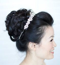 #wedding hair style #modern high bun # princess style up do #up do with tiara  www.imagibyfiona.com