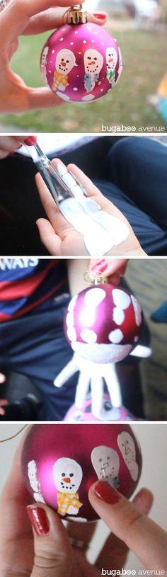 Handprint Snowman Ornament   DIY Christmas Crafts for Kids to Make