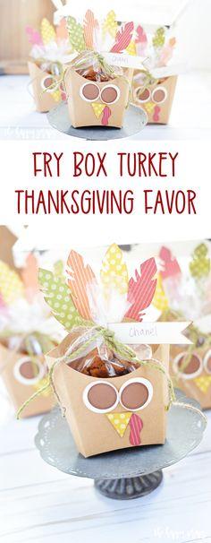 Fry Box Turkey - Thanksgiving Favor