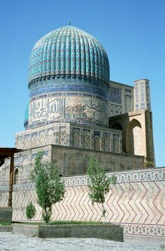 Another silk route architectural highlight is found at Samarkand Religious Architecture, Classical Architecture, Beautiful Architecture, Art And Architecture, Islamic World, Islamic Art, Places Around The World, Around The Worlds, Style Oriental