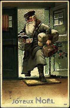 Vintage Santa Claus - Santa Claus - Vintages Cards - Christmas Wallpapers, Free ClipArt for Xmas, Icon's, Web Element, Victorian Christmas Photos and Vintage Santa Claus pictures Old Fashioned Christmas, Christmas Past, Victorian Christmas, Father Christmas, Retro Christmas, Vintage Christmas Cards, Christmas Greetings, Vintage Cards, Christmas Pictures