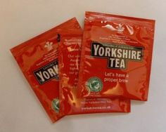 50 x Yorkshire Tea Bags - Individual Enveloped Tagged Tea bags