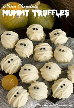 White Chocolate Mummy Truffles - OMG Chocolate Desserts