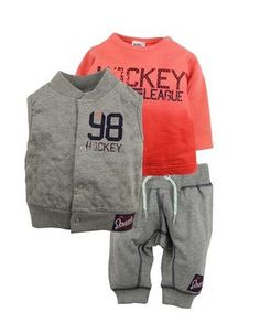 Dirkje babykleding 3 delig setje bestaande uit een bodywarmer, shirt en broekje