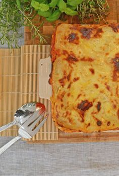 Grymt god vegetarisk lasagne från bloggen 3 kockar 7 kids