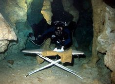 Extreme Ironing, Cave Diving Edition
