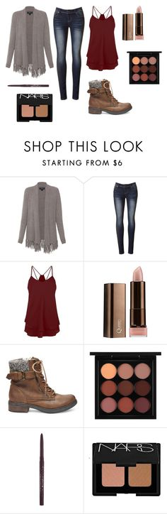 """""""Autumn Blossom"""" by fionalilylove ❤ liked on Polyvore featuring Repeat Cashmere, COVERGIRL, Steve Madden, MAC Cosmetics, Stila and NARS Cosmetics"""