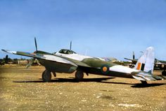 SAAF De Haviland Mosquito FB Mk IV of 60 Sqadron, Mossie at Bart, Italy on 3 September Photo Tailhook Ass. via Mark Aldrich. (Photo from Andre Roux, SWA Specialist unit Veterans) Air Force Aircraft, Ww2 Aircraft, Military Aircraft, South African Air Force, De Havilland Mosquito, Korean War, American Soldiers, Military History, World War Two