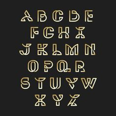 Golden retro alphabets vector set Free V. Retro Typography, Typography Alphabet, Typographic Logo, Modern Business Cards, Logo Design Inspiration, Lettering Design, Vector Free, Christmas Alphabet, Graphics