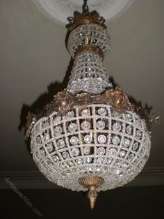 Antiques Atlas - Pair Of French Crystal Chandeliers