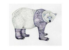 Polar Bear Print Polar Bear in purple Knitwear by ChasingtheCrayon, £13.00