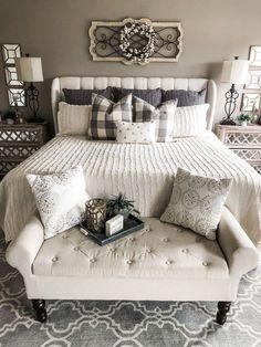 Master bedrooms decor - Cozy master bedroom - Home decor bedroom - Remodel bedroom - Farmhouse - Best Pins