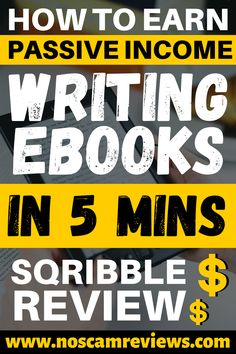 Discover a way to start writing ebooks in just 5 minutes and make money from it! This method will show you how to earn passive income writing ebooks for years and years to come.