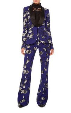 Floral Printed Tuxedo Jacket by PRABAL GURUNG Now Available on Moda Operandi | fashion | style | wardrobe | clothing | for tall women