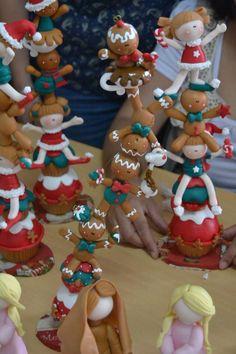 Porcelana fria polymer clay pasta francesa masa flexible fimo fondant gum paste topper  modelado modelling figurine christmas navidad xmas natal pascua