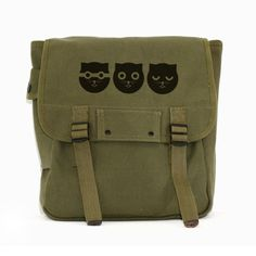 Cat Bag Backpack, Canvas Backpack, Watson the Cat, Rucksack, Travel Bag, Festival Backpack, Cute Kawaii, Women's Backpack, Green Backpack by mediumcontrol on Etsy https://www.etsy.com/listing/100559639/cat-bag-backpack-canvas-backpack-watson