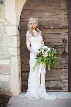 Modest Wedding Dress With Long Sleeves