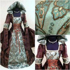 Robe médiévale L-XL-2XL 16-18-20 mariage sorcière par astrastarl                                                                                                                                                      Plus