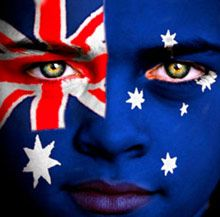 Wow, that's some great face painting. and very patriotic! My kids would love Australian flag faces this Australia Day :) Happy Australia Day, Moving To Australia, Australia Travel, Visit Australia, Western Australia, Australian People, Australian Flags, Flags Of The World, We Are The World