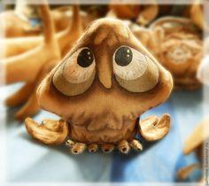 Коллекционные куклы ручной работы. Ярмарка Мастеров - ручная работа. Купить Кофейная сова Счастьюшко. Handmade. Коричневый, ароматизированная игрушка
