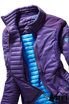 Need a jacket that transitions from trails to cocktails? The Kuhl Spyfire women's down jacket doesn't skimp on details or style. Put this on your holiday wish list or shop now at REI.com.