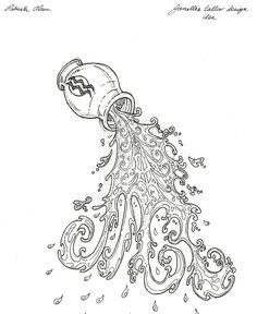 Aquarius Tattoo Drawing