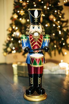 Nutcracker Drummer : Create a festive atmosphere in your home this year with this festive decor. Cracker, Festival Decorations, Birthday Candles, Create, Christmas, Xmas, Navidad, Noel, Natal