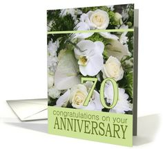 Wedding Anniversary White mixed bouquet card Created from an original Studio Porto Sabbia photo! This white mixed bouquet anniversary card is also available for different (family) relations and for many specific years 29th Wedding Anniversary, Happy Anniversary, Anniversary Surprise, Bouquet, Greeting Cards, Autumnal, Family Relations, White Roses, Studio