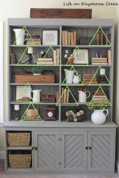 10 Tips for Decorating Shelves Like a Pro - Life on Kaydeross Creek decortips decorate farmhouse bookshelf stylize 367887863309763326 Decorating Bookshelves, Bookshelf Design, How To Decorate Bookshelves, Bookshelf Ideas, Arranging Bookshelves, Book Shelves, Book Shelf Decorating Ideas, Decorating A Hutch, Organizing Bookshelves