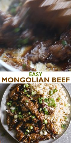 This easy Mongolian Beef recipe is better than take-out and can be made in just 30 minutes! Tender beef and fresh green onions in an amazing garlic and ginger asian sauce, served over hot cooked rice. Food Recipes For Dinner, Food Recipes Keto Best Beef Recipes, Low Carb Recipes, Chicken Recipes, Healthy Recipes, Recipes With Beef Cubes, Steak Pieces Recipes, Recipes With Flank Steak, Crockpot Recipes Asian, Flap Meat Recipes