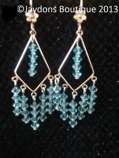 Sterling Silver - Genuine Swarovski Crystal Earrings x