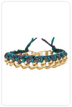 "Ariel Gordon Silk Woven Chain Bracelet. Soon I'm gonna ""add to cart"" this lil baby."