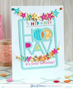 It's Your Birthday Card by Betsy Veldman for Papertrey Ink (December 2014)