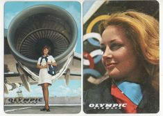 Olympic Airways Ads On Olympic Airlines, Vintage Ads, Vintage Airline, Airline Uniforms, Flight Attendant Life, Cabin Crew, Air Travel, Athens, Greece