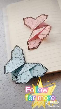 Diy Crafts Hacks, Diy Crafts For Gifts, Diy Home Crafts, Creative Crafts, Paper Crafts Origami, Paper Crafts For Kids, Diy Paper, Instruções Origami, Oragami
