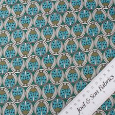 Linen is much stronger and more lustrous than cotton, also providing an exceptional coolness for the hot weather, therefore making ideal summer clothing. Creasing elegantly, this turquoise and green 'ladybird' printed lightweight linen is ideal for a full Buy Fabric Online, Full Skirts, Printed Linen, Fabric Shop, Linen Fabric, Turquoise, Pure Products, Green, Prints