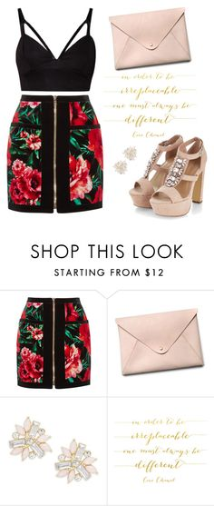 """""""Skirt <3"""" by aldinna ❤ liked on Polyvore featuring Balmain, HarLex, Cara, Chanel, women's clothing, women, female, woman, misses and juniors"""