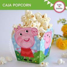 Peppa Pig: caja popcorn para imprimir - Todo Bonito