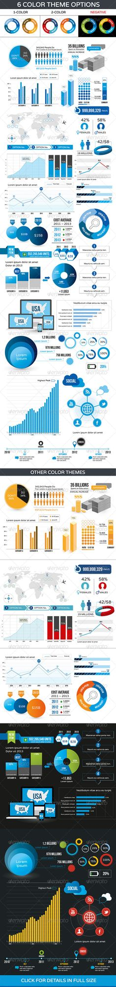 Buy Presentation Infographic Color Options by Mike_pantone on GraphicRiver. Various vector infographic elements for your business presentation. Available in 6 different color theme options on b. Web Design, Chart Design, Infographic Resume, Infographic Templates, Business Presentation, Presentation Design, Brand Fonts, Wordpress Template, Data Visualization