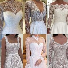 which is your favorite   . . by @isabellanarchi . . #fashion #style #love #insta Wedding Bells, Wedding Gowns, Bouquet Wedding, Vestidos Off White, Wedding Ideias, Nice Dresses, Prom Dresses, Beautiful Dresses, Lace Bracelet