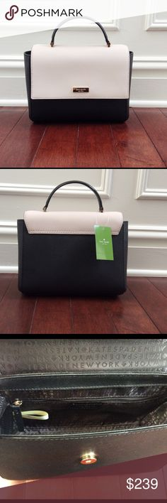 ❤2X HP!❤ Authentic NWT Kate Spade Crossbody Keep it classy with this chic BRAND NEW Paterson Court Brynlee Kate Spade Crossbody Handbag in Black and Pebble.  Dimensions of bag: 7 inches high and 9 inches wide.  Drop length is 2.5 inches when handheld.  Bag comes with detachable and adjustable crossbody strap.  Bag features cross hatched leather material, front snap closure, two interior slide pockets and one zipper pocket. Statement Style HP! ❤🎉 kate spade Bags Crossbody Bags