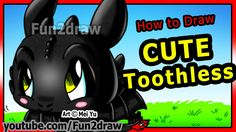 How to Draw Toothless - How to Train Your Dragon - Night Fury - Fun2draw...